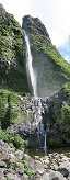 Poço do Bacalhau Waterfall (Flores Island, Azores, Portugal)