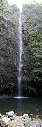 Waterfall in Ribeiro Frio Nature Park (Madeira Island, Portugal)